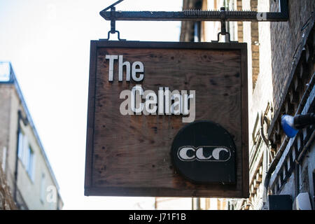 Oxford, UK. 22nd May, 2017. The Cellar is a long-established music venue in Oxford, where bands such as Radiohead - Stock Photo