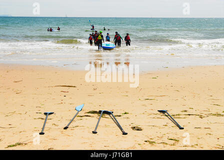Poole, Dorset, UK. 22nd May, 2017. People enjoy the start of the hot spell, on Sandbanks beach in Poole Credit: - Stock Photo