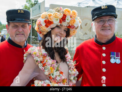 The Royal Hospital Chelsea, London, UK. 22nd May, 2017. The annual pinnacle of the horticultural calendar, the RHS - Stock Photo