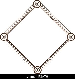 decorative frame geometric decoration abstract design - Stock Photo