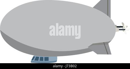 airship zeppelin modern design flat style - Stock Photo