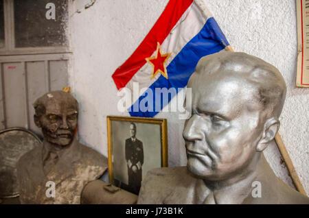 Vladimir Ilyich Ulyanov - Lenin and Josip Broz Tito - Busts - Stock Photo