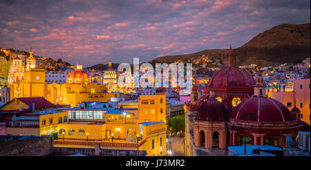 Guanajuato is a city and municipality in central Mexico and the capital of the state of the same name. It is part - Stock Photo