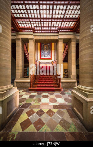The Teatro Juarez is one of the most architectural stunning buildings in Guanajuato. - Stock Photo
