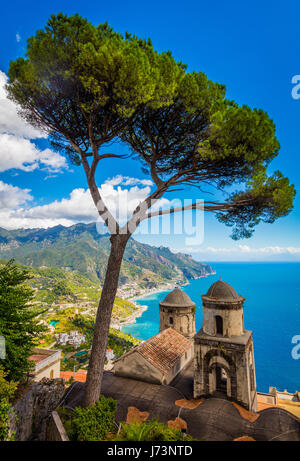 Villa Rufolo is a building within the historic center of Ravello, a town in the province of Salerno, Italy. - Stock Photo