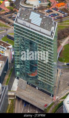 City house, State Chancellery of the State of North Rhine-Westphalia, Düsseldorf, Rhineland, North Rhine-Westphalia, - Stock Photo