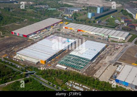 Logistics location Westfalenhütte, Amazon logistics, construction site, Dortmund, Ruhr area, North Rhine-Westphalia, - Stock Photo