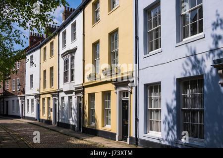 Prince street houses, Kingston Upon Hull, Yorkshire, England, U.K. - Stock Photo