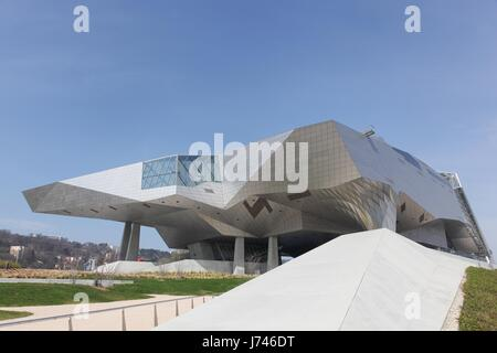 Lyon, France - March 15, 2017: The Musee des Confluences in Lyon, France - Stock Photo