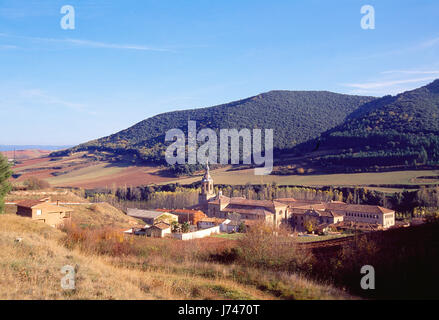 Yuso monastery. San Milan de la Cogolla, La Rioja, Spain. - Stock Photo