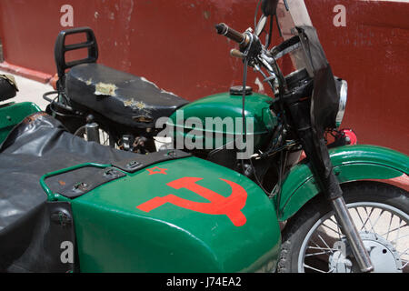 Sidecar in Old Havana, Cuba - Stock Photo