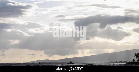Sunset over Ala Moana Bay Memorial Day 2016 - Stock Photo