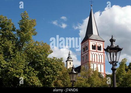 stadtansicht kirche reise siegburg stadtgeschichte gemeinde stadtansicht kirche - Stock Photo