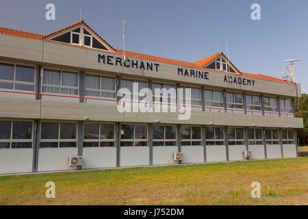 The merchant marine academy of the Ionian Islands in Argostoli, Kefalonia, Greece - Stock Photo