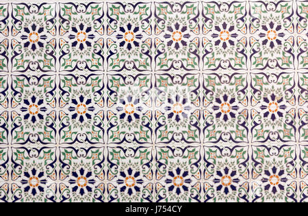 Spanish ceramic tiles on a wall in Spain - Stock Photo