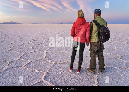 Salar de Uyuni in Bolivia - Stock Photo