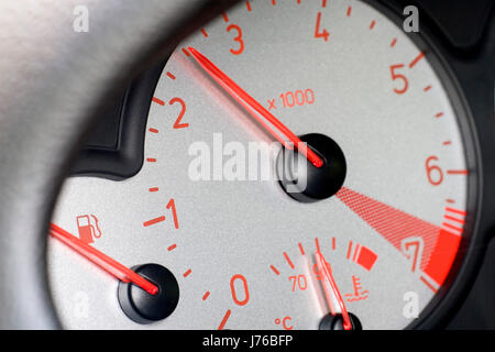 dashboard of peugeot 206 cc (no pr) - Stock Photo