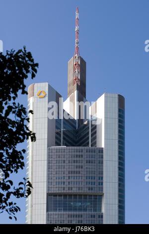Commerzbank bank lending institution frankfort Commerzbank building buildings - Stock Photo