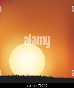 sunset illustration image photo picture copy deduction shine shines bright - Stock Photo