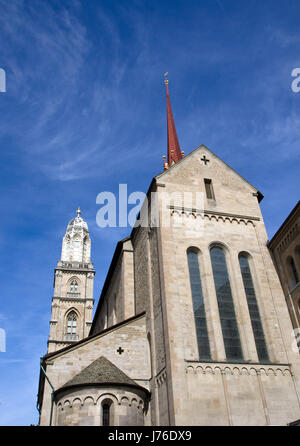 the grossmunester in zuerich - Stock Photo