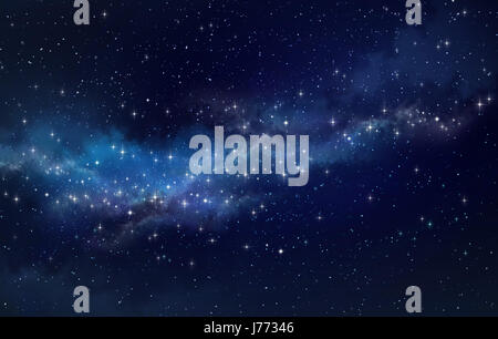 High definition galaxy background, bright stars shining in a milky way - Stock Photo