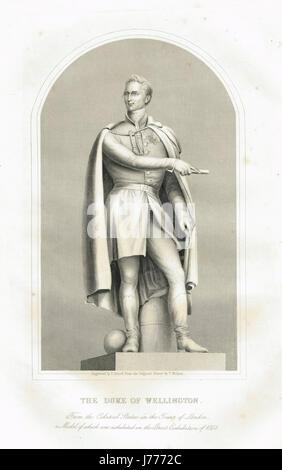 Colossal statue of Duke of Wellington - Stock Photo