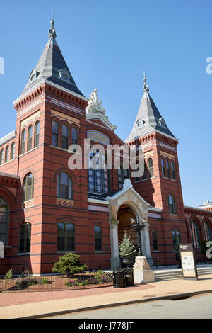 smithsonian arts and industries building Washington DC USA - Stock Photo