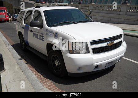 homeland security federal protective service police suv Washington DC USA - Stock Photo