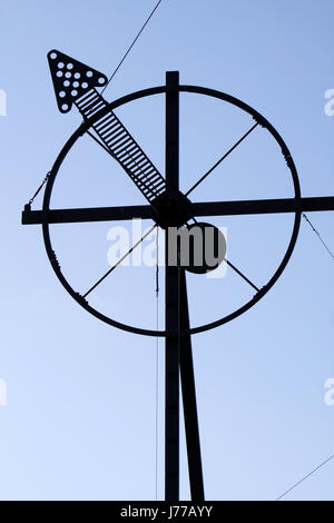 sign signal communication wind force wind direction semaphore sign signal water - Stock Photo