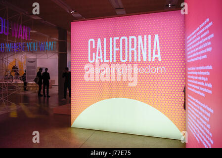 London, UK. 23rd May, 2017. Press preview of 'California Designing Freedom', an exhibition at the Design Museum - Stock Photo