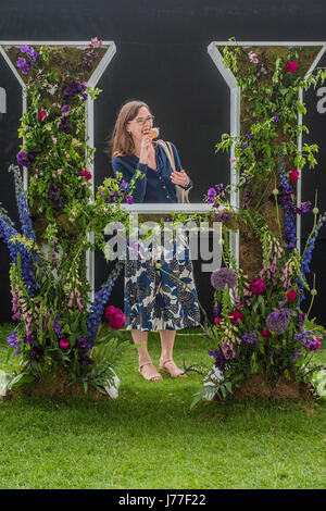 London, UK. 23rd May, 2017. The Chelsea Flower Show organised by the Royal Horticultural Society with M&G as its - Stock Photo
