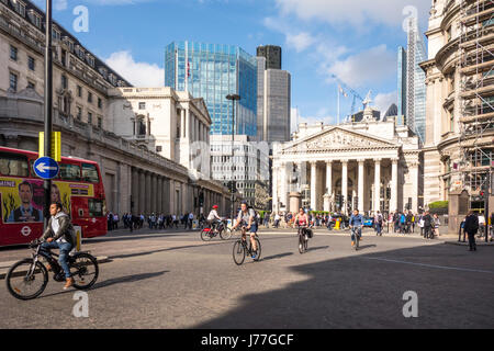 City of London, UK. 23rd May 2017. City of London Corporation launch 'Bank on Safety', an 18 month trial to limit - Stock Photo