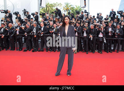 Cannes, France. 23rd May, 2017Chinese model Liu Wen attends the '70th Anniversary' ceremony of the Cannes Film Festival - Stock Photo