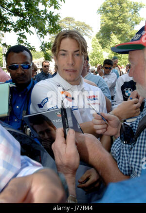 PHOTOGRAPH BY RICHARD GRANGE   FILE PIC DATED 27 JUNE 2005. GOODWOOD FESTIVAL OF SPEED, CHICHESTER, WEST SUSSEX. UK.  Nicky Hayden, World Superbike rider and former MotoGP Champion, visited the Goodwood Festival of Speed in 2005.   Nicky died on May 22nd 2017 from injuries sustained in a cycling incident in Italy 5 days earlier.