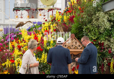 The Royal Hospital Chelsea, London, UK. 23rd May, 2017. The annual pinnacle of the horticultural calendar, the RHS - Stock Photo