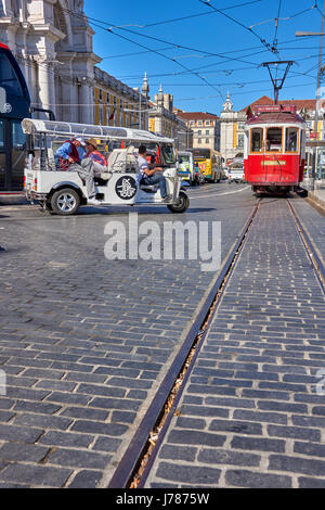 Commerce Square in the city of Lisbon, Portugal - Stock Photo