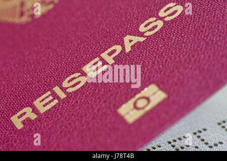 german passport macro - Stock Photo