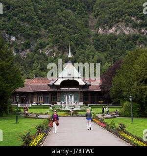 The Casino Kursaal at Interlaken in Switzerland. The casion is set within a garden. - Stock Photo