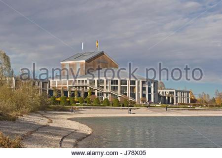 festspielhaus fssen theater wasser forggensee veranstaltungshaus  - Stock Photo