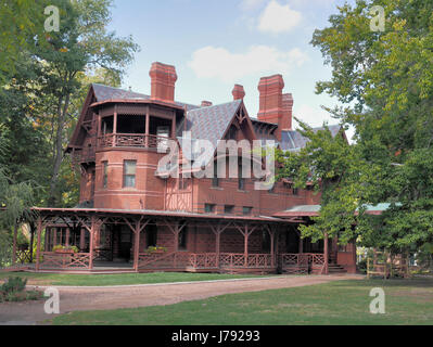 Mark Twain Home in Hartford, Connecticut USA - Stock Photo
