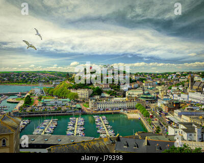 DIGITAL ART: Torquay Harbour, Devon, Great Britain - Stock Photo