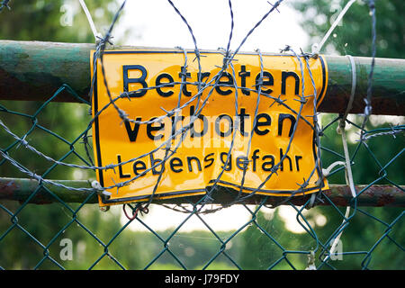 do not enter sign in German - Betreten verboten - Stock Photo