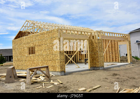 New wood frame homes under construction Stock Photo: 142195098 - Alamy