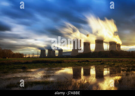 Drax is a large coal-fired power station in North Yorkshire, England, capable of co-firing biomass and petcoke, - Stock Photo