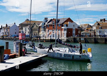 The harbour, Weymouth, Dorset, England UK - Stock Photo