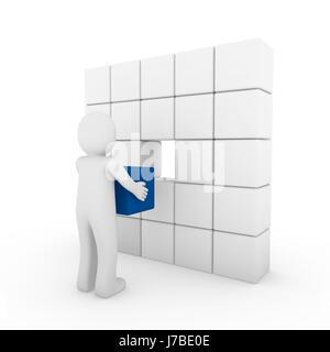 blue blank european caucasian business dealings deal business transaction - Stock Photo