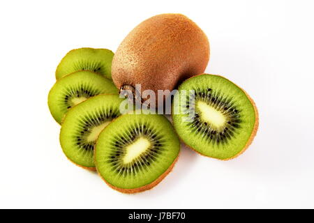 kiwis - kiwi with sliced u200bu200bkiwi half - Stock Photo
