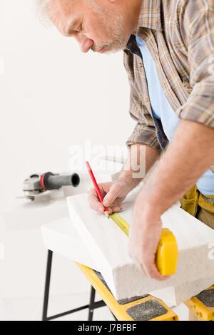 measured sured measure renovation professional improvement handyman supplier - Stock Photo