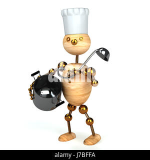 wood cook man restaurant humans human beings people folk persons human human - Stock Photo