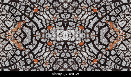 Abstract background. The pattern on the wall with peeling gray paint - Stock Photo